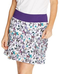 "#lorisgolfshoppe Women's Golf Apparel offers a classy collection of golf skorts, shorts, dresses, and golf tops. You gotta see this PULSE (Flutter/Plum) GGblue Ladies Caddy 18.5"" Pull On Golf Skort with unique , pretty colors!"