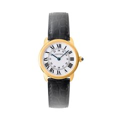 Ronde solo de Cartier watch, small model yellow gold