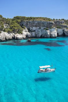 Nadire Atas on Spanish Beaches Best Beaches - Clear water and blue skies Cala Macarelleta, Menorca Places Around The World, Oh The Places You'll Go, Places To Travel, Travel Destinations, Places To Visit, Dream Vacations, Vacation Spots, Destination Voyage, Destin Beach