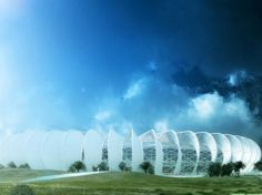 The Moroccan National Football team is set to have a brand new stadium designed by French studio Scau in collaboration with local, Moroccan firm Archi Design. The Grand Stade de Casablanca will be built in an old quarry and will feature passive solar design with concrete fin-like blades that promote natural ventilation. Construction on the 80,000 seat soccer stadium is expected to begin shortly and then be completed some time in 2013.