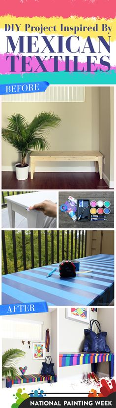 Get creative with colors. See @elbavalverde's multi-colored bench project from start to finish. #SWPaintingWeek