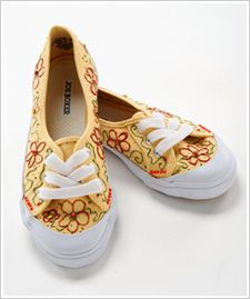 Flowers and Jewels Canvas Shoes...Tween Birthday Party Craft/Favor