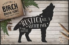 Check out Rustica Vol. 3 + Birch Brush Font by MakeMediaCo. on Creative Market