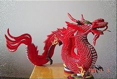 3d origami dragon with stand papercraftcentral net imagination rh pinterest com 3d origami dragon instructions 3d origami dragon boat instructions