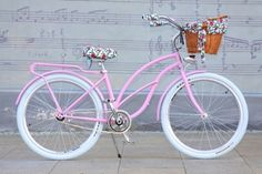 Retro Beach Cruiser Woman Bike - Pink Bon Bon - Naturally Connected