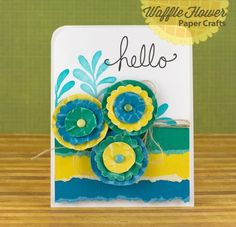 Hello Card by @Nina Yang featuring @Core'dinations paper
