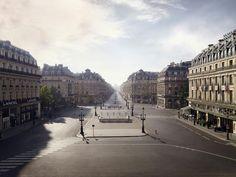 """Place de l'Opera, C-print, 250x320cm, 2009 """"Silent world"""" Lucie and Simon"""