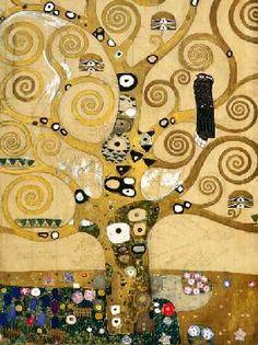 Gustav Klimt - De levensboom Tree of life ( Middel deel )