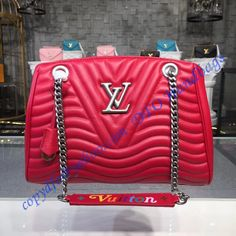 Louis Vuitton New Wave Chain Tote Red M51497 9001686a58088
