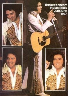 "( ☞ 2017 IN MEMORY OF ★ † ELVIS PRESLEY "" Rock & roll ♫ pop ♫ rockabilly ♫ country ♫ blues ♫ gospel ♫ rhythm & blues ♫ "" ★ The Last concert ♫ Indianapolis Saturday, June 26, 1977. "" ) ★ † ♪♫♪♪ Elvis Aaron Presley - Tuesday, January 08, 1935 - 5' 11¾"" - Tupelo, Mississippi, USA. † Died; Tuesday, August 16, 1977 (aged of 42) Resting place Graceland, Memphis, Tennessee, USA. Cause of death: (cardiac arrhythmia)."