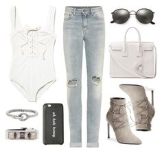 """""""Untitled #20202"""" by florencia95 ❤ liked on Polyvore featuring Yves Saint Laurent, Free People, Ray-Ban, Proenza Schouler and Acne Studios"""