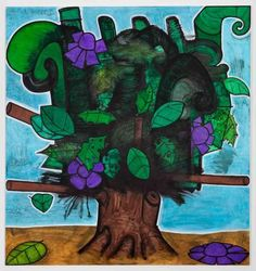 Carroll Dunham, Late Trees #7