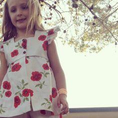 Girls Vintage Floral Dress Shirt by Blinnea on Etsy, $34.00