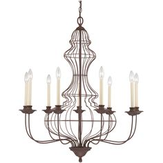 Venezia Antique Bronze 9 Arm Wire Chandelier ($1,000) ❤ liked on Polyvore featuring home, lighting, ceiling lights, wire lamp, 9 light, antique bronze lighting, antique bronze lamp and wire lights