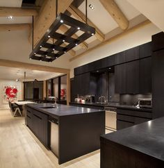 contemporay masculine design | Masculine Custom Light Fixture - contemporary - kitchen - denver - by ...