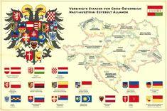 United States of Greater Austria by Regicollis on DeviantArt German Symbols, Austrian Empire, Hallstatt, Austro Hungarian, Fantasy Map, Alternate History, Vintage Maps, Historical Maps, Fun At Work
