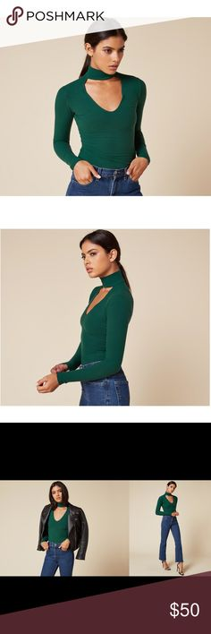 SOLD OUT Reformation Piper Top - Emerald Great condition. Reformation Tops Tees - Long Sleeve