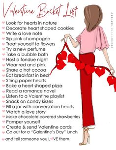 Are you ready on Valentine's Day? If not, you can make your own valentine bucket list this month with fun and memorable. You can include this valentines bucket list to your plan today! Bon Weekend, Hello Weekend, Diy Valentines Cards, Happy Valentines Day, Valentine List, Valentines Food, Saint Valentine, Valentine Decorations, Heart Shaped Cookies
