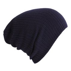 ad1af7f0c3b Woman amp Man Navy Blue Winter Keep Warm Knitting Wool Cap Solid Color  Hedging Cap