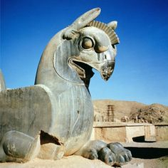 Image Of The Day - Spectacular Ancient Giant Griffin Guarding Persepolis - MessageToEagle.com