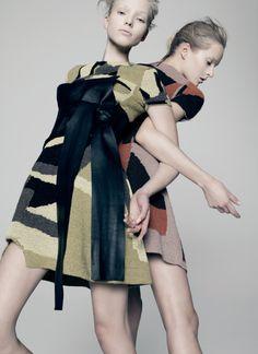 Publication: V Magazine #94 Spring 2015 Model: Sasha Luss, Daria Strokous Photographer: Pierre Debusschere Fashion Editor: Tom van Dorpe