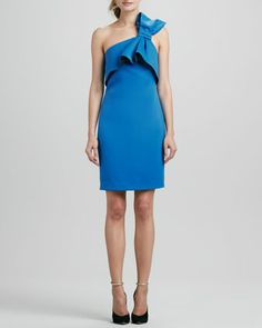 One-Shoulder Bow Dress  by Halston Heritage at Bergdorf Goodman.