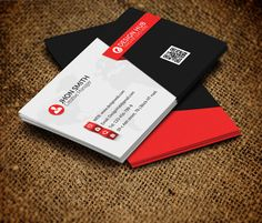 Online Business Card Maker App D Red Business Card Template - Online business cards templates