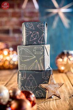 #Weihachten #Geschnenke einpacken #Trend #geometrischeFormen #christmas #xmas #gifts