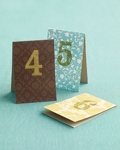 DIY table numbers - simple and to the point.