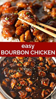 Chicken Breast Recipes Dinners, Asian Chicken Recipes, Chicken Recipes With Sauce, Easy Sauce For Chicken, Chicken Breats Recipes, Easy Chicken Breast Dinner, Chicken Thigh Recipes, Bourbon Chicken Recipe Easy, Bourbon Recipes