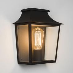 Do you prefer the vintage light bulbs and vintage lamps over the more energy efficient and bright LED lights? Here's a debate why vintage lamps are alright. Front Door Lighting, Lighting Uk, Outdoor Wall Lighting, Outdoor Walls, Bathroom Lighting, Black Wall Lights, Black Outdoor Wall Lights, Deco Luminaire, Luminaire Design