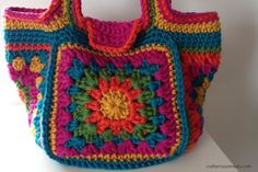 Crochet festival bag TaDah! - free crochet pattern from Crafternoon Treats. More bagalong projects here: http://crafternoontreats.com/bagalong/