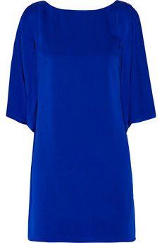 Milly Stretch-silk mini dress | NET-A-PORTER