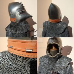 Bascinet and aventail  Medieval helmet