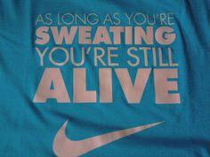 sweating!