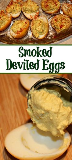 Easy Smoked Deviled Eggs - Smoked Meat Sunday - Easy Smoked Deviled Eggs These Easy Smoked Deviled Eggs are the perfect way to change up a holiday dinner classic! Just an extra step makes these taste amazing and perfect! via Guy Who Grills - Pellet Grill Recipes, Grilling Recipes, Traeger Recipes, Smoked Eggs, Smoked Deviled Eggs Recipe, Smoked Sides, Clean Eating Snacks, Egg Ingredients, Smoking Recipes