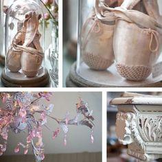 balletschoentjes, mooi in een stolp.