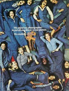 Levi's ad (1970's): so...much...denim!