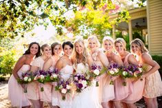 The stunning ladies of the day with their star. ::Kelley + Kyle's romantic fall wedding at the Vinewood Estates in Newnan, Georgia:: #bride #bridesmaids #weddingphotography @vinewoodplantations #flowers by @sharon murphy Stems
