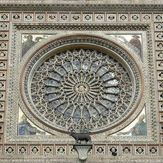 Rose window of the cathedral in Orvieto, Italy .    #rosewindow #rosewindows #orvieto #orvietoumbriaitaly #orvietocathedral