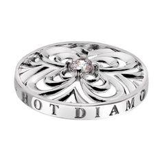 Favourite www.hotdiamonds.co.uk or www.emozioni.com 33mm Consistenza Petal coin £29.95