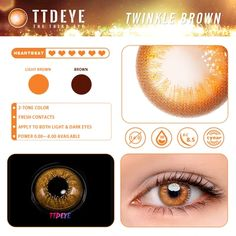 TTDeye Twinkle Brown Colored Contact Lenses - ttdeye Halloween Contacts, Halloween Makeup, Colored Contacts, Eye Contacts, Contact Lens Solution, Diamonds In The Sky, Makeup For Moms, Circle Lenses, Color Lenses