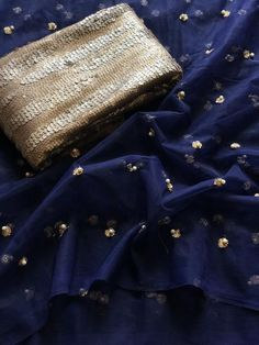Navy blue sequins work net saree comes with designer seq work blouse pc Trendy Sarees, Stylish Sarees, Fancy Sarees, Indian Designer Outfits, Indian Outfits, Indian Dresses, Saree Blouse Patterns, Saree Blouse Designs, Shiffon Saree