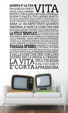QUESTA E' LA TUA VITA adesivo  sticker da uro 69€ MADEI IN ITALY