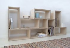Shelving by Raw Edge Furniture - Ply, Plywood, Birch Ply, Ply Shelving, Ply…