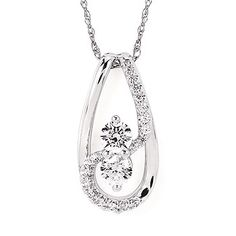 1/2 Ctw Diamond Two-Stone Fashion Pendant In 14K Gold by Ostbye. OP15A85/.50