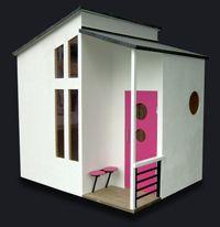 Mini house for the backyard ♡ Outside Playhouse, Build A Playhouse, Playhouse Outdoor, Playhouse Ideas, Cubby Houses, Play Houses, Modern Playhouse, Modern Dollhouse, Kids Corner