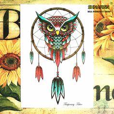 7d9b074b1 Owl pendant Temporary Tattoo Body Art Flash Tattoo Stickers 12*20cm  Waterproof Henna Tatoo Styling