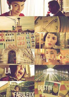 """""""A ansiedade sobre a passagem do tempo nos faz falar sobre o tempo"""" (Le Fabuleux Destin d'Amélie Poulain)"""