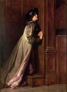 1 John 1:9: If we confess our sins, he is faithful and just and will forgive us our sins and purify us from all unrighteousness. (The Sinner 1904, John Collier)